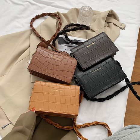 new Korean fashion stone pattern small square all-match one-shoulder diagonal bags NHLH271591's discount tags