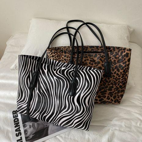 Bolso de mano de un solo hombro casual grande con estampado de leopardo de moda NHRU271641's discount tags