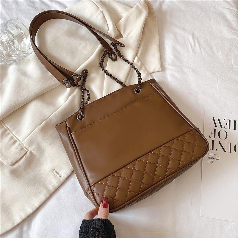 new large capacity simple fashion rhombus messenger tote bag NHTC271672