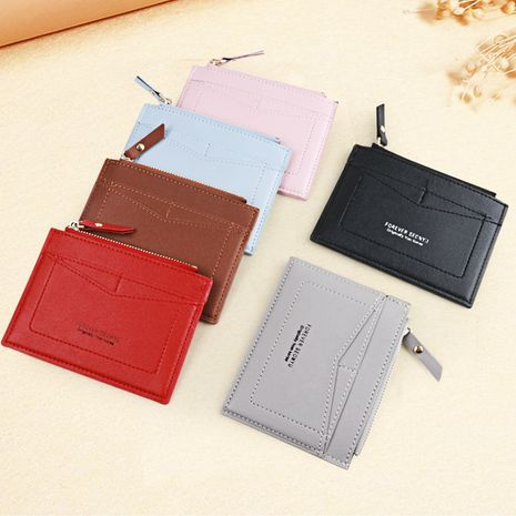 new korean  short zipper  multi-card mini wallet wholesale NHBN271739's discount tags