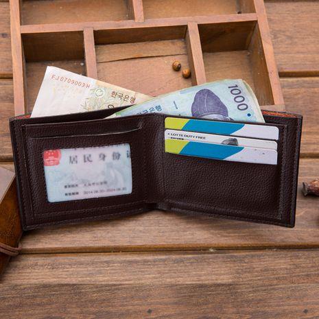 Nouveau portefeuille pour homme ultra-fin en cuir PU créatif NHBN271742's discount tags