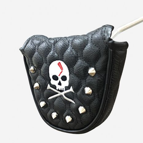 Korean skull golf putter cover PU waterproof magnet closed protective cover cap  NHBN271743's discount tags