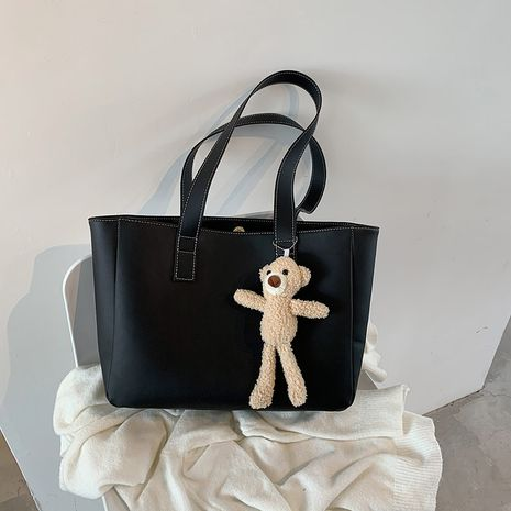 Large-capacity autumn fashion one-shoulder cute bear tote bag NHJZ271782's discount tags
