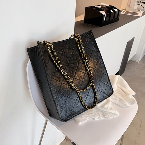 High-end autumn and winter retro bucket new fashion single shoulder large capacity bags NHJZ271808's discount tags