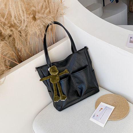 nouveau sac messager coréen à une épaule en cuir souple NHJZ271838's discount tags