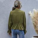 veste  manches longues dcontracte verte  manches longues pour femmes NHDF271844