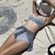 Korea new sexy slim high waist covering belly  split bikini  NHHL271866