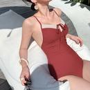 new  fashion slim stitching sexy onepiece swimsuit  NHHL271881