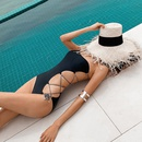 nouveau maillot de bain une pice sexy slim noir  une paule NHHL271885