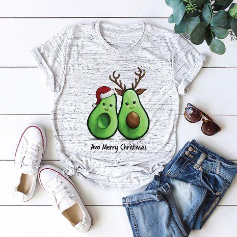t-shirt à manches courtes pour femme Merry Christmas Christmas avocat NHSN271960's discount tags