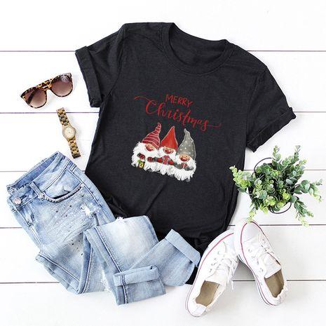 t-shirt à manches courtes pour femme Merry Christmas Christmas dwarf NHSN271963's discount tags