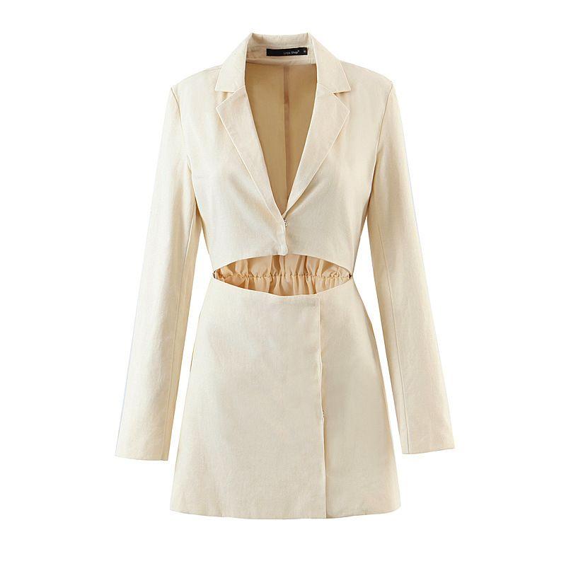 wholesale  fake twopiece waistless suit dress  NHAM272032