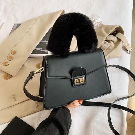 bolso de hombro de moda peludo NHJZ273526's discount tags