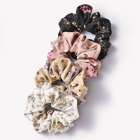 Corde à cheveux en tissu rétro floral cercle intestin français NHGE272103's discount tags