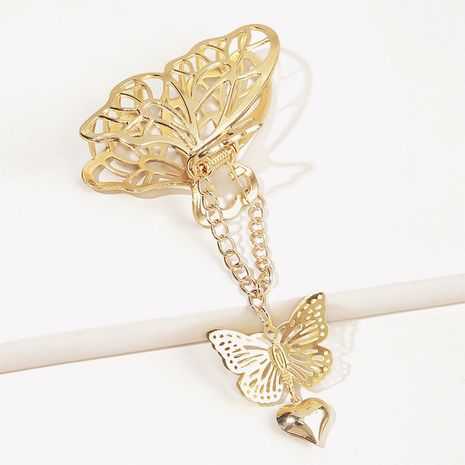 Three-dimensional Heart Butterfly Pendant Hairpin  NHGE272112's discount tags