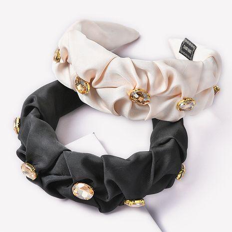 solid color fabric rhinestone headband  NHGE272116's discount tags