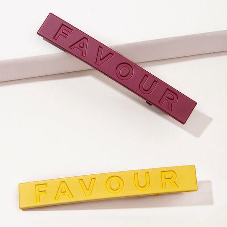 pince à bec de canard en métal avec lettres givrées colorées NHGE272146's discount tags