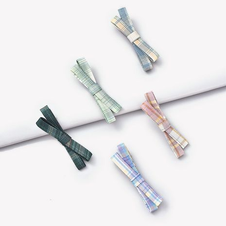 Korean retro lattice jk bow hairpin NHGE272149's discount tags