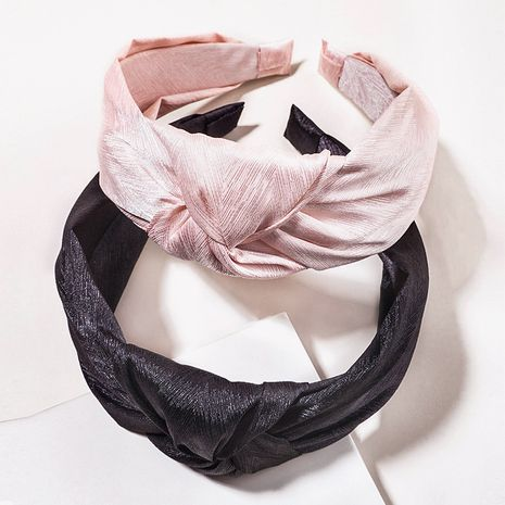 Fashion  imitation silk material fabric knotted headband  NHGE272156's discount tags
