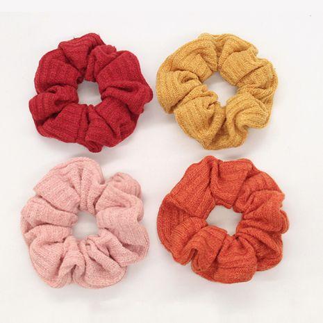Automne nouvelle corde de cheveux gros intestin en laine de couleur pure tricotée simple NHGE272157's discount tags