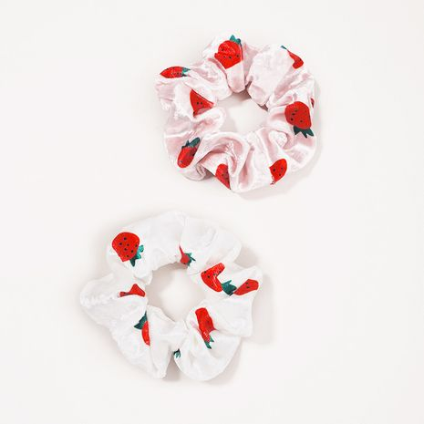 cute strawberry velvet large intestine hair rope NHGE272176's discount tags