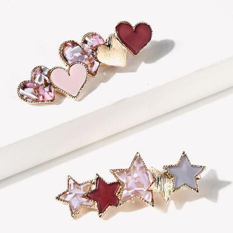 Clip lateral de acrílico del clip del pico de pato de la moda coreana NHGE272185's discount tags
