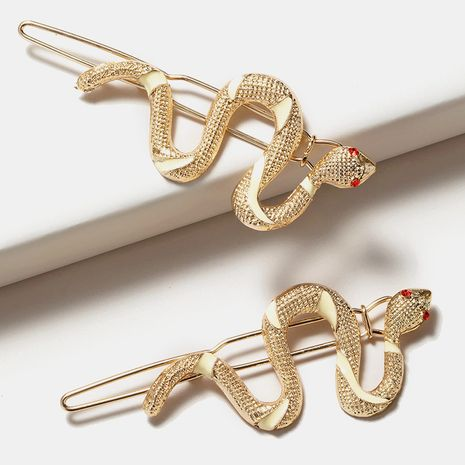 New  fashion snake-shaped  simple retro  word clip NHGE272189's discount tags