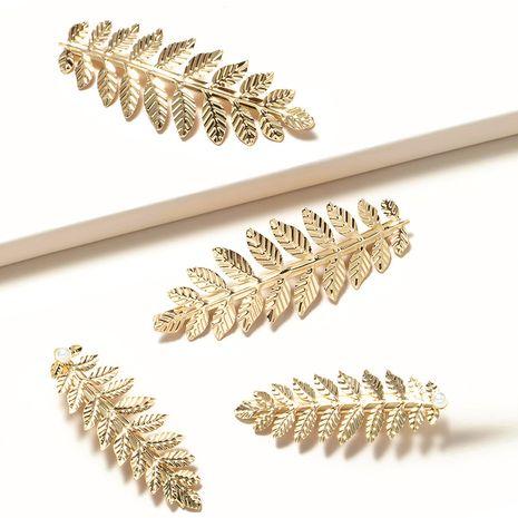 clip de pico de pato de hoja de perla de bosque retro de hoja de oro tonto de metal NHGE272194's discount tags