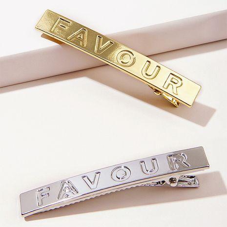 Clip de pico de pato de letra brillante de metal dorado del alfabeto inglés NHGE272200's discount tags