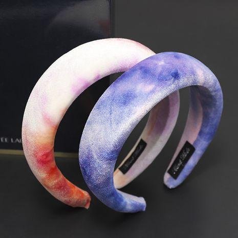 new tie-dye velvet sponge  thickened flannel headband NHOU272208's discount tags