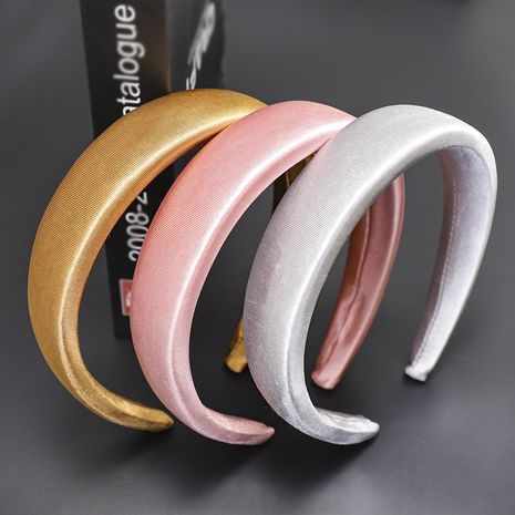 milk silk velvet sponge headband  NHOU272218's discount tags