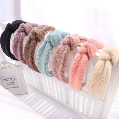 pure color knitted  fashion all-match headband  NHOU272224's discount tags