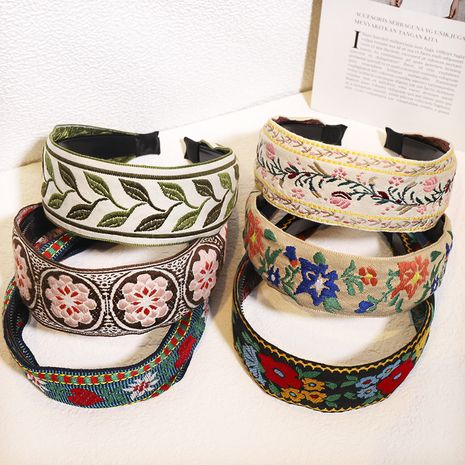 embroidery ethnic style toothed non-slip headband  NHOU272230's discount tags