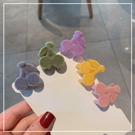 Nueva horquilla dulce coreana del clip de captura del pequeño de la cereza de la felpa NHOF272243's discount tags