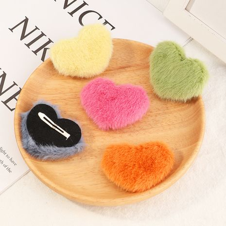 Korean cute candy color love hairpin NHAU272249's discount tags
