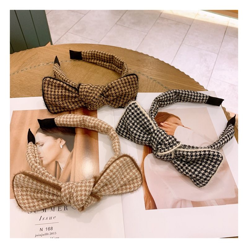 Korean  simple fashion houndstooth headband NHHD272262