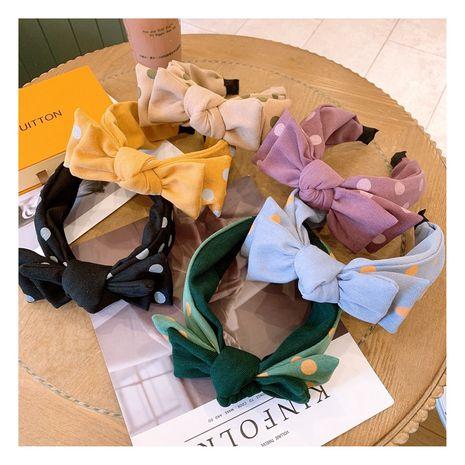 Korea sweet  cute cream big polka dot rabbit ears  headband  NHHD272267's discount tags