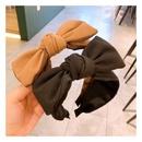 Korean  retro cashmere woolen cloth full of diamond letters bow hair band  NHHD272273