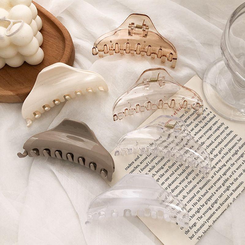 Korean  geometric plate hair catch acrylic shark clip  NHNA272288