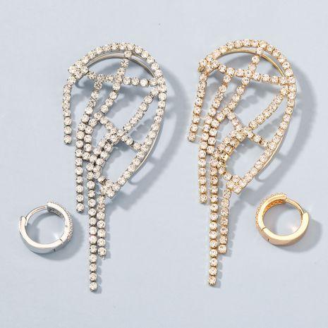 Boucles d'oreilles asymétriques non percées en alliage acrylique haut de gamme à la mode NHJE272308's discount tags