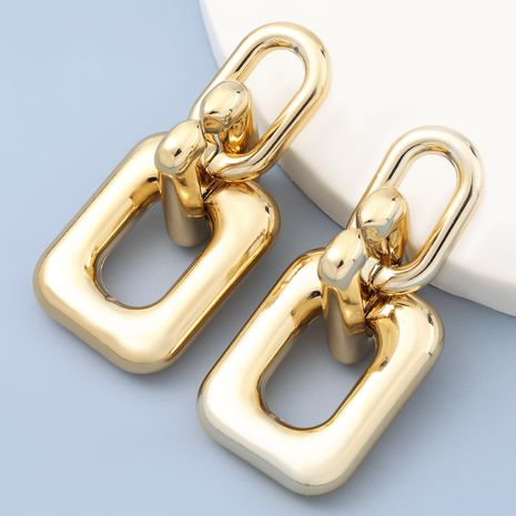 Boucles d'oreilles rétro simples en alliage carré en métal NHJE272317's discount tags