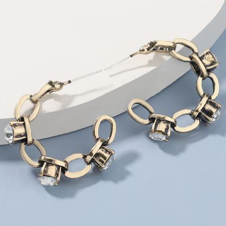 Boucles d'oreilles rétro en alliage acrylique en forme de C NHJE272323's discount tags