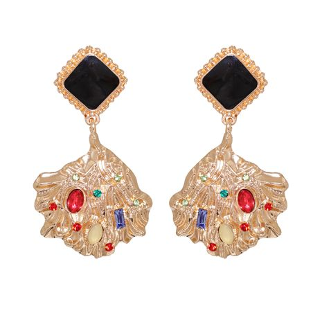 abstract metal irregular earrings NHJJ272332's discount tags