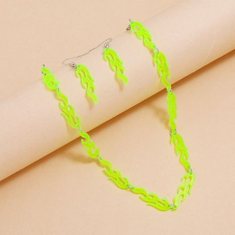 Ensemble de 2 boucles d'oreilles en acrylique fluorescent jaune NHPV272446's discount tags