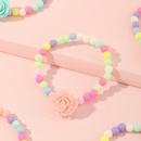 bonbons de dessin anim mignon fleurs colores perles bracelets pour enfants NHNU272505