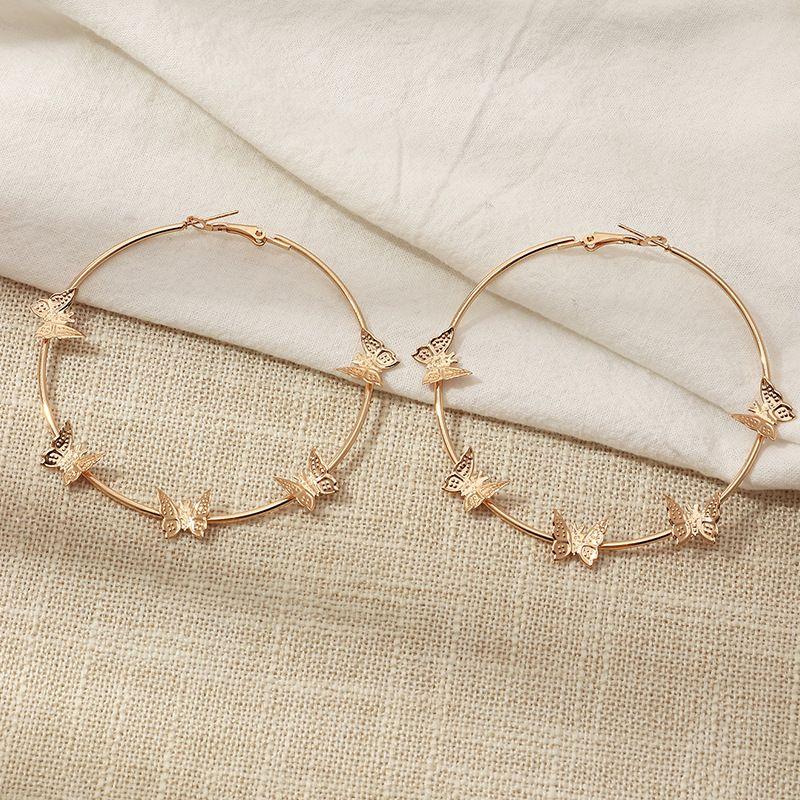 fashion butterfly pendant simple earrings NHNZ272509