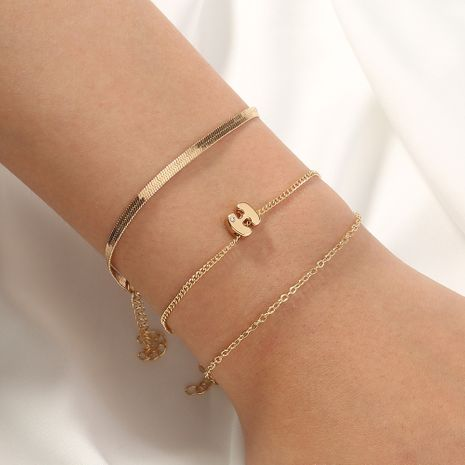 Bracelet papillon coréen multicouche lettre H en métal simple NHAN272521's discount tags