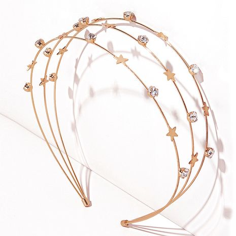 Serre-tête serti de diamants et strass étoiles simples de Corée NHGE272135's discount tags