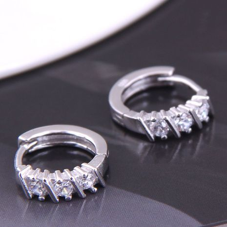 Korean fashion sweet  simple inlaid zircon earrings NHSC272803's discount tags