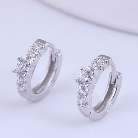 Korean fashion sweet simple inlaid zircon earrings NHSC272802's discount tags